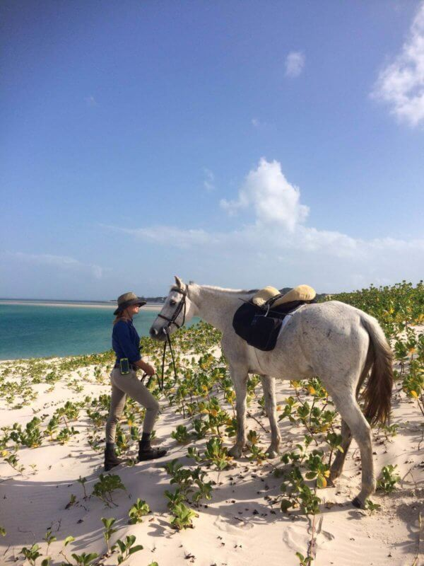 Riding on Benguerra Island, Mozambique